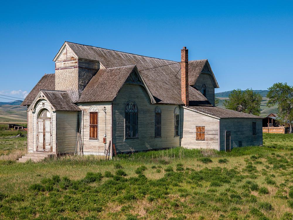 Old Mormon Church near Paris Idaho near Bear Lake. Licensing and Open Edition Prints.