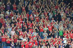 Travelling Bristol City fans at Hillsborough Stadium - Mandatory byline: Dougie Allward/JMP - 07966386802 - 08/08/2015 - FOOTBALL - Hillsborough Stadium -Sheffield,England - Sheffield Wednesday v Bristol City - Sky Bet Championship