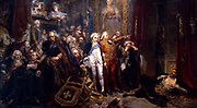 Tadeusz Rejtan protesting against the partition treaty and immortalized in the painting by Jan Matejko (1838–1893) The Partition Sejm was a Parliament in session from from 1773 to 1776 in the Polish-Lithuanian Commonwealth in order to legalize their First Partition of Poland.