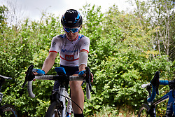 Malgorzata Jasinska (POL) warms up at Stage 2 of 2019 OVO Women's Tour, a 62.5 km road race starting and finishing in the Kent Cyclopark in Gravesend, United Kingdom on June 11, 2019. Photo by Sean Robinson/velofocus.com