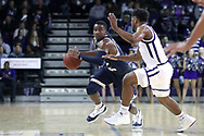 HIGH POINT, NC - JANUARY 06: Charleston Southern's Cortez Mitchell (left). The High Point University of Panthers hosted the Charleston Southern University Buccaneers on January 6, 2018 at Millis Athletic Convocation Center in High Point, NC in a Division I men's college basketball game. HPU won the game 80-59.