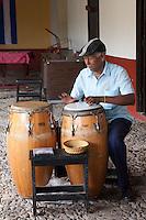 Drumming in Trinidad, Cuba.