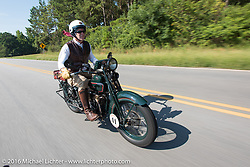 Dean Bordigioni (Dino) riding his 1923 Harley-Davidson JS during Stage 3 of the Motorcycle Cannonball Cross-Country Endurance Run, which on this day ran from Columbus, GA to Chatanooga, TN., USA. Sunday, September 7, 2014.  Photography ©2014 Michael Lichter.