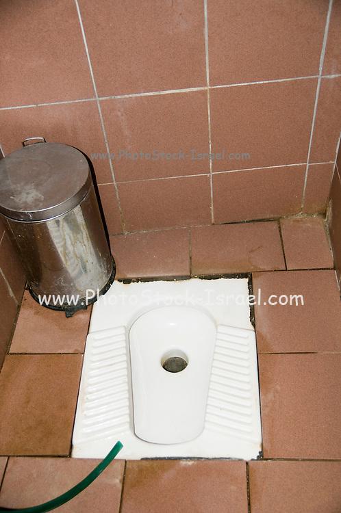 Turkey, Antalya, Squat toilet