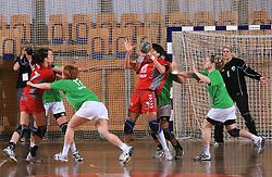 Ljudmila Bodnieva at Women Slovenian Handball Cup, finals match between RK Olimpija and RK Krim Mercator, on April 5, 2009, in Arena Tivoli, Ljubljana, Slovenia.  Won of Krim 32:29 and became Slovenian Cup Champion. (Photo by Vid Ponikvar / Sportida)