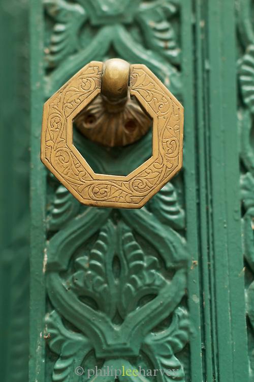 Door handle of Mahkama du Pacha in Casablanca, Morocco
