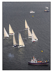 The Brewin Dolphin Scottish Series, Tarbert Loch Fyne...Aerial of the Class three start, with Grace Ritchie.