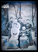 deteriorating two gernerations family group portrait France ca 1910s