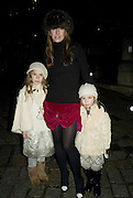 COLETTE, HANNA VAN DEN THILLART AND AVA. Winter party hosted by the Somerset House Trust and Tiffany's. To celebrate the opening of the Ice Rink at Somerset House. 20 November 2007. -DO NOT ARCHIVE-© Copyright Photograph by Dafydd Jones. 248 Clapham Rd. London SW9 0PZ. Tel 0207 820 0771. www.dafjones.com.