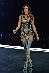 Alessandra Ambrosio on the catwalk for the Victoria's Secret Fashion Show at the Mercedes-Benz Arena in Shanghai, China