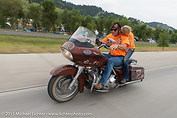 """Son's of Anarchy's """"Final Ride"""" during the 75th Annual Sturgis Black Hills Motorcycle Rally.  SD, USA.  August 4, 2015.  Photography ©2015 Michael Lichter."""