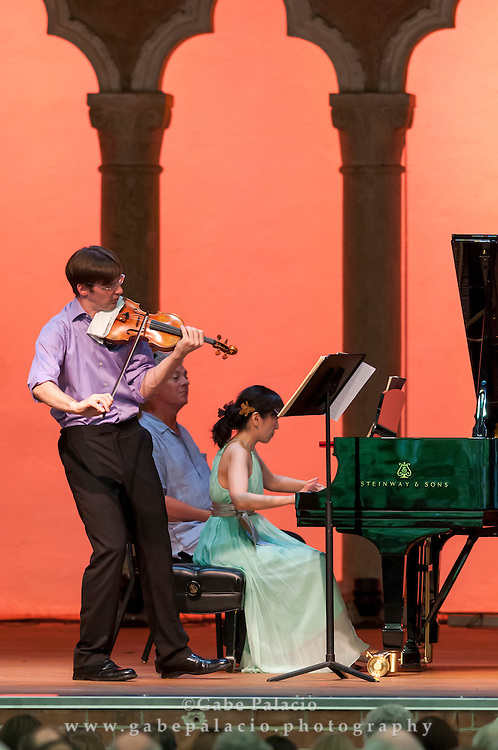 Beethoven's Sonatas for Violin and Piano.The Art of the Duo, performance in the Venetian Theater at Caramoor in Katonah New York..photo by Gabe Palacio