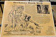 Interpretive sign at the Beekman Bank Well, Jacksonville, Oregon USA
