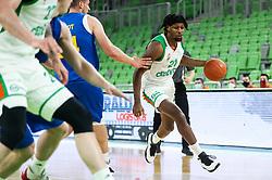 Jarrod Jones of Cedevita Olimpija during 1st Leg basketball match between KK Cedevita Olimpija and KK Hopsi Polzela in Quarterfinals of Nova KBM League 2020/21, on May 4, 2021, in Arena Stozice, Ljubljana, Slovenia. Photo by Vid Ponikvar / Sportida