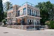 "Tiberias, Israel on the shores of the Sea Of Galilee. ""Shirat Hayam"" Boutique hotel on the promenade"
