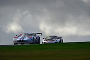 2012 FIA GT1 World Championship.Donington Park, Leicestershire, UK.27th - 30th September 2012.Laurent Groppi / Benjamin Lariche, Ford GT..World Copyright: Jamey Price/LAT Photographic.ref: Digital Image Donington_FIAGT1-18868