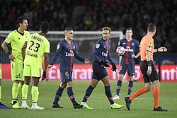 November 2, 2018 - Paris, France - 10 NEYMAR JR (psg) - 06 Marco VERRATTI (psg) - 06 Jose FONTE (lil) - COLERE (Credit Image: © Panoramic via ZUMA Press)