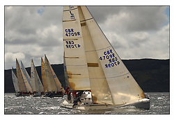 The third days racing at the Bell Lawrie Yachting Series in Tarbert Loch Fyne ..Perfect conditions finally arrived for competitors on the three race courses...J109 Jaru GBR709 in Class 2