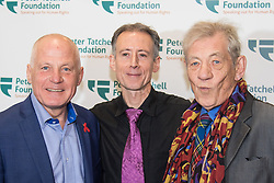 Old Town Hall, Stratford, London - 28 November 2015. Singers Marc Almond, Ronan Parke, Heather Peace and Asifa Lahore headline the Peter Tatchell Foundation's inaugural Equality Ball, a fundraiser for the foundation's LGBTI and human rights work, with guest of honour Sir Ian McKellen  joined by  Michael Cashman. PICTURED: (L-R) Michael Cashman, Peter Tatchell, Sir Ian McKellen.  //// FOR LICENCING CONTACT: paul@pauldaveycreative.co.uk TEL:+44 (0) 7966 016 296 or +44 (0) 20 8969 6875. ©2015 Paul R Davey. All rights reserved.
