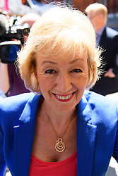 © Licensed to London News Pictures. 04/07/2016. London, UK. Conservative MP Andrea Leadsom arrives to launch her campaign for the leadership of the Conservative party. Photo credit: Ben Cawthra/LNP