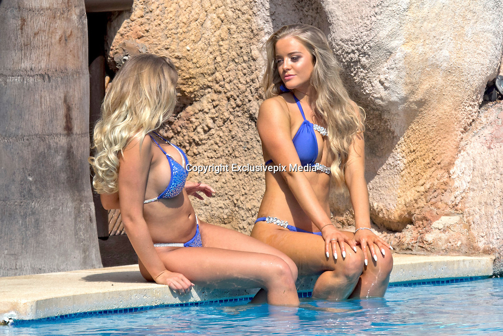 EXCLUSIVE<br />Ex on the beach star Megan Clark and Sophie Whitaker from ITV's Take Me Out , looking toned and tanned as they holiday in Marbella <br />©Exclusivepix Media