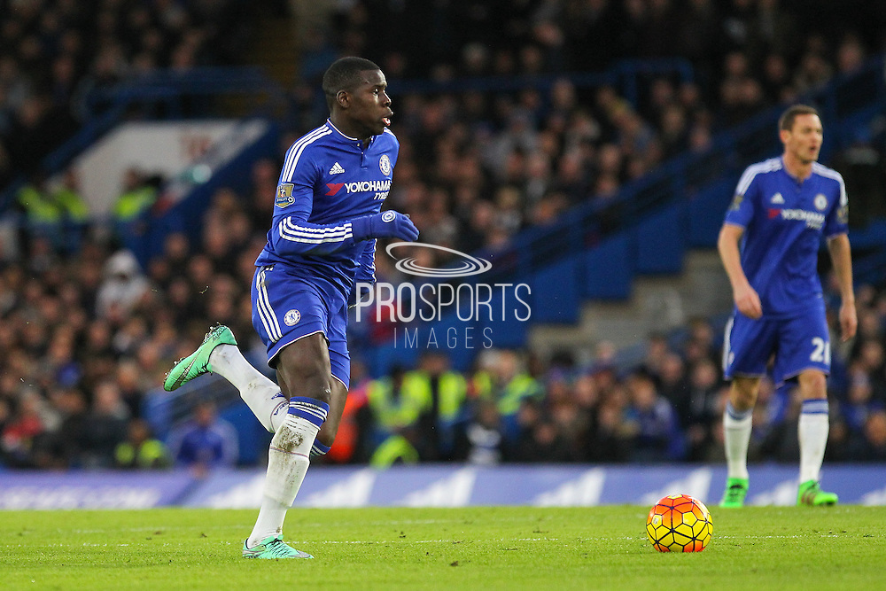 Chelsea's Kurt Zouma during the Barclays Premier League match between Chelsea and Manchester United at Stamford Bridge, London, England on 7 February 2016. Photo by Phil Duncan.