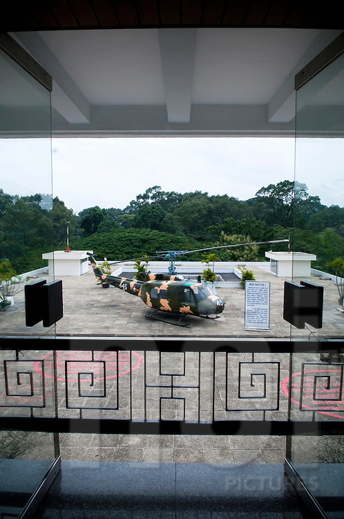 Heliport on the rooftop of the Reunification Palace in Ho Chi Minh city, Vietnam, Southeast Asia