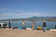 Fishing at the Batumi sea port, Georgia
