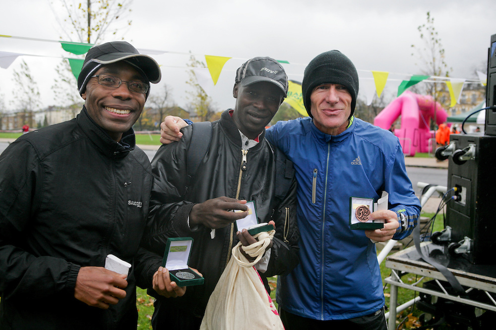 The first, second and third place runners