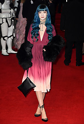 Zoe London attending the european premiere of Star Wars: The Last Jedi held at The Royal Albert Hall, London.