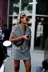 Street style, Candace Marie arriving at Acne Spring-Summer 2019 menswear show held at Bercy Popb, in Paris, France, on June 20th, 2018. Photo by Marie-Paola Bertrand-Hillion/ABACAPRESS.COM