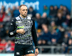 Cory Allen of Ospreys<br /> <br /> Photographer Simon King/Replay Images<br /> <br /> European Rugby Challenge Cup Round 5 - Ospreys v Worcester Warriors - Saturday 12th January 2019 - Liberty Stadium - Swansea<br /> <br /> World Copyright © Replay Images . All rights reserved. info@replayimages.co.uk - http://replayimages.co.uk