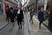Canterbury 21/3/2013 - VIP guests from all religions, denominations and faiths walk through the medieval Mercery Lane before the enthronement of the Church of England's 105th Archbishop of Canterbury, ex-oil executive and former Bishop of Durham the Right Reverend Justin Welby. Welby (57) follows a long Anglican heritage since Benedictine monk Augustine, the first Archbishop of Canterbury in 597AD Prince Charles and Prime Minister David Cameron joined 2,000 VIP guests to Canterbury Cathedral, the oldest church in England.