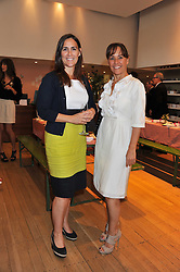 Left to right, sisters ANTONIA THORP and SARAH MANLEY at a ladies lunch in aid of Mothers4Children hosted by Carmelbabyandchild at 259 Pavillion Road, London SW1 on 30th June 2011.