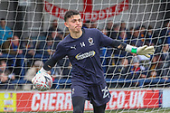 Youth goalkeeper during the The FA Cup 5th round match between AFC Wimbledon and Millwall at the Cherry Red Records Stadium, Kingston, England on 16 February 2019.