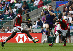 May 26, 2019 - Twickenham, England, United Kingdom - Kyle Rowe of Scotland.during The HSBC World Rugby Sevens Series 2019 London 7s Challenge Trophy Quarter Final Match 28 between Kenya and Scotland at Twickenham on 26 May 2019. (Credit Image: © Action Foto Sport/NurPhoto via ZUMA Press)