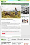 2013 08 07 Tearsheet Oxfam Australia Promoting sustainable farming Indonesia