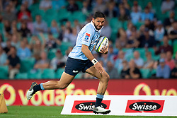 March 9, 2019 - Sydney, NSW, U.S. - SYDNEY, NSW - MARCH 09: Waratahs player Curtis Rona (11) runs in to score a try at round 4 of Super Rugby between NSW Waratahs and Queensland Reds on March 09, 2019 at The Sydney Cricket Ground, NSW. (Photo by Speed Media/Icon Sportswire) (Credit Image: © Speed Media/Icon SMI via ZUMA Press)