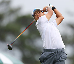 April 7, 2018 - Augusta, GA, USA - Hideki Matsuyama hits from the 1st tee during the third round of the Masters Tournament on Saturday, April 7, 2018, at Augusta National Golf Club in Augusta, Ga. (Credit Image: © Curtis Compton/TNS via ZUMA Wire)