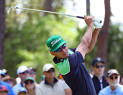 April 6, 2018 - Augusta, GA, USA - Rafael Cabrera Bello hits his tee shot on four during the second round of the Masters at Augusta National Golf Club on Friday, April 6, 2018, in Augusta, Ga. (Credit Image: © Curtis Compton/TNS via ZUMA Wire)