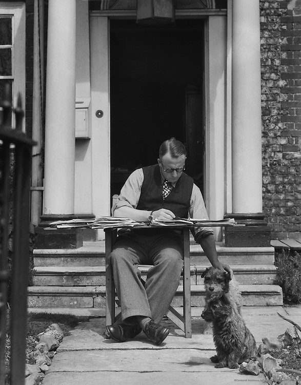 Mr. S.B. Mais Outside Front Door, England, 1932