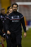 Lincoln City Midfielder Zak Elbouzedi (25) before the EFL Sky Bet League 1 match between Lincoln City and Shrewsbury Town at Sincil Bank, Lincoln, United Kingdom on 15 December 2020.
