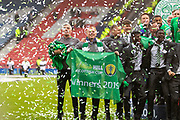 Let the celebrations commence! Celtic FC have achieved the treble treble following the 2-1 win over Hearts in the William Hill Scottish Cup Final match between Heart of Midlothian and Celtic at Hampden Park, Glasgow, United Kingdom on 25 May 2019.