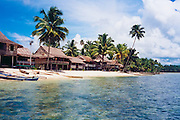 Beach houses at Nias, Indonesia <br /> <br /> Editions:- Open Edition Print / Stock Image