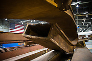 Artifacts chosen by curators out of the wreckage  from the World Trade Center  stored temporarily within an 80,000 square foot hanger at JFK airport, Hanger 17. Some of the artifacts will be in the National September 11 Memorial Museum set to open in 2012.