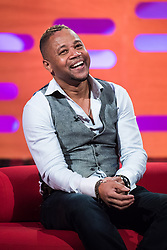 Cuba Gooding Jr during filming of the Graham Norton Show at The London Studios, to be aired on BBC One on Friday.