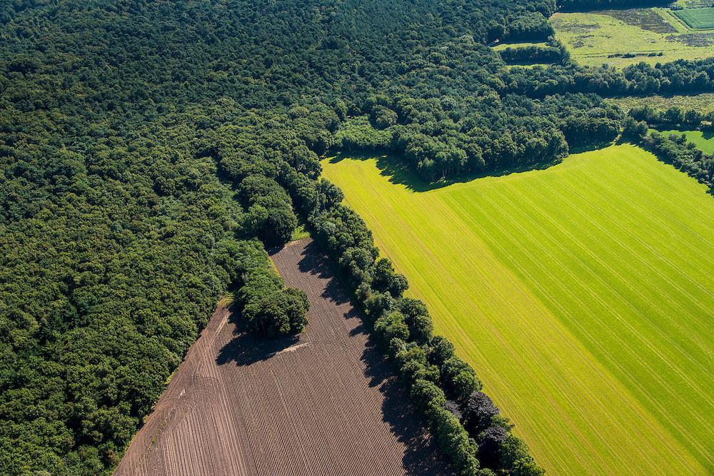 Nederland, Friesland-Drenthe, 27-08-2013; Drents-friese wold, natuurgebied op de grens van de provincies Drenthe en Friesland. Nationale park ten zuiden van Appelscha, bestaat uit bos, heide en stuifzanden.<br /> Drenthe-Friese wold 'wood' nature reserve on the border of the provinces of Drenthe and Friesland. National park, consists of woodland, heathland and sand drifts.<br /> luchtfoto (toeslag op standaard tarieven);<br /> aerial photo (additional fee required);<br /> copyright foto/photo Siebe Swart.