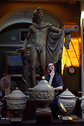 Visitor at the Sir John Soanes Museum, London
