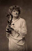 Ellen Alice Terry (1847-1928) English actress. From 1878 she had a successful 25-year professional partnership with Henry Irving. Here as Ophelia in the tragedy 'Hamlet' by William Shakespeare. Photogravure c1895.