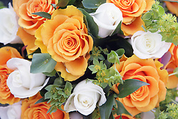 Bunch of flowers from a bride's bouquet,